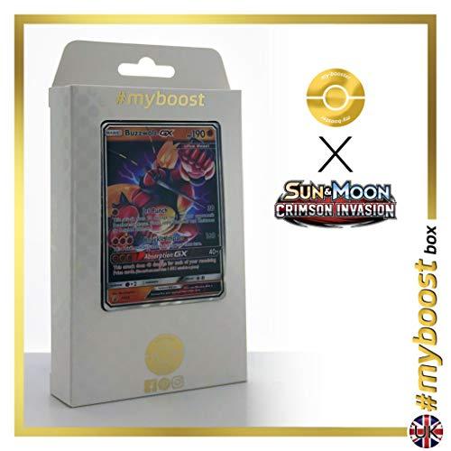 Buzzwole-GX (Mouscoto-GX) SM69 - #myboost X Sun & Moon 4 Crimson Invasion - Coffret de 10 Cartes Pokémon Aglaises