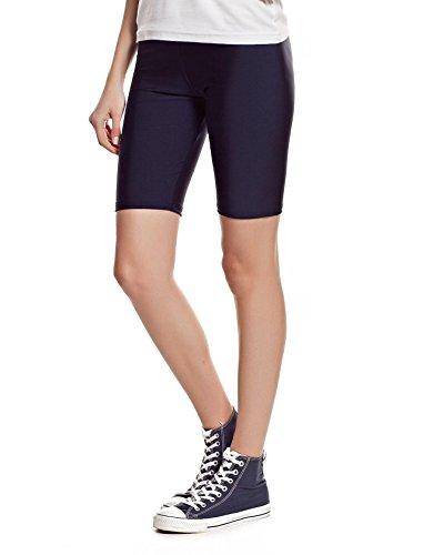 elegance1234 2 Pairs Multi Pack Womens Stretchy Cotton Lycra Above Knee Short Active Leggings Same Day Posting Medium UK 12 38 Black