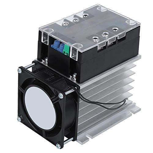 Arrancador de motor suave Accesorio del controlador de arranque suave eléctrico, Arrancador suave monofásico/bifásico para bomba de agua/ventilador(With Heat Sink)
