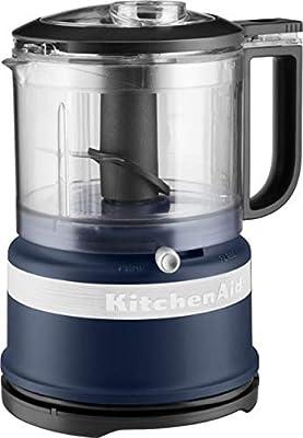 KitchenAid KFC3516IB 3.5 Cup Food Chopper, Ink Blue (RENEWED) (CERTIFIED REFURBISHED)