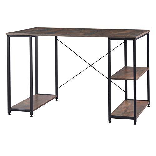 WOLTU TSB31srs Schreibtisch Computertisch Büromöbel PC Tisch Bürotisch Arbeitstisch aus Holz und Stahl, mit Ablage, ca. 120x60x75 cm