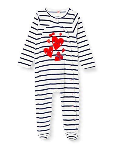 Tuc Tuc Pelele TUNDOSADO Les PARISIENS Mamelucos para bebés y niños pequeños, Blanco, 3-6M