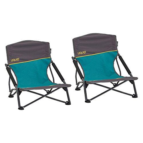 Uquip Sandy, Conjunto de 2 sillas Playeras Plegables - Capacidad de Carga hasta 120kg (17 x 17 x 65 cm)