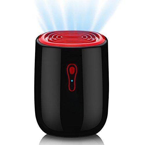 WOHOME Portable Dehumidifier, Electric Mini Air Dehumidifier 300ml Daily Working Capacity with Auto Shut-Off for Bathroom Wardrobe...
