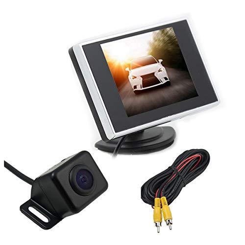 DONGMAO Moniteur de Voiture 3.5 Pouces TFT LCD Auto TV + 12-36v Carré Tension Inversant Moniteur de Caméra Moniteur de Recul de Sauvegarde