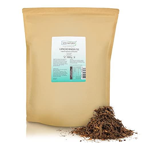 VITA NATURA Lapacho Rinden Tee - aus innerer Rinde - Brasilien - Tabebui impetiginosa - 100% vegan und nachhaltig - in 1000 g Packung erhältlich