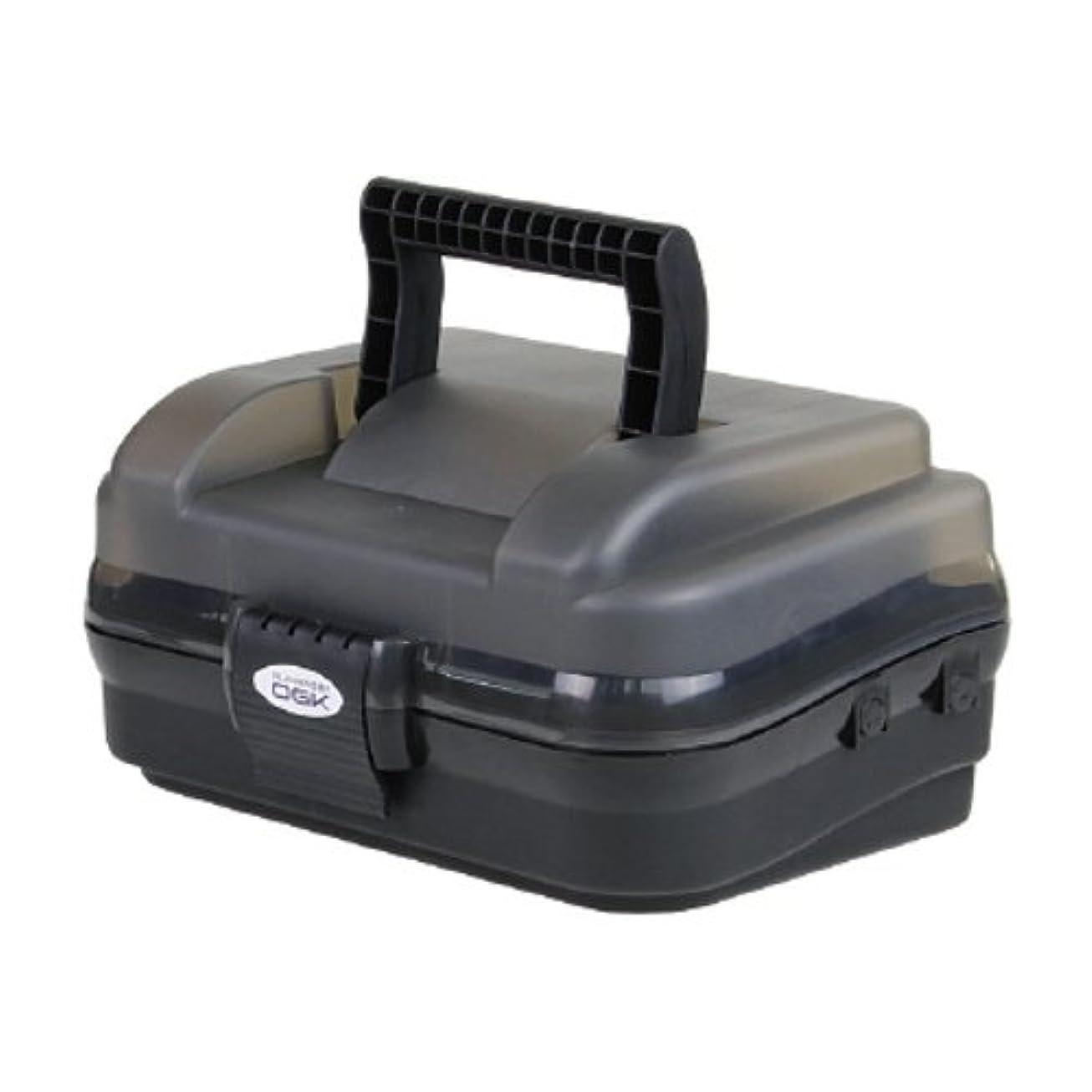 漁師辛いスケジュールOGK(オージーケー) 小型タックルボックス OG647SK 1段式 スモーク/ブラック