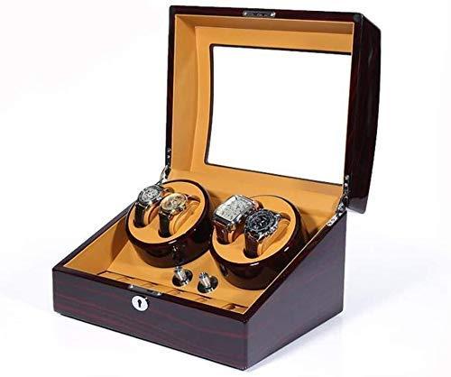 Kücheks Caja enrolladora de Reloj 4 + 6 Pantalla de Caja enrolladora de Reloj con 5 Modos enrolladora de Reloj para Relojes automáticos con Motor silencioso Mabuchi (Color: A)