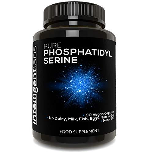 Intelligent Labs Phospatidylserin 100mg, 100% spjafrei, reines Phosphatidylserin aus Sonneblumenlecithin, 90 Kapseln