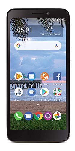 cheap TCL A1 4G LTE TracFone Prepaid Smartphone with Carrier Lock – Black – 16 GB – Sim Card Included – CDMA