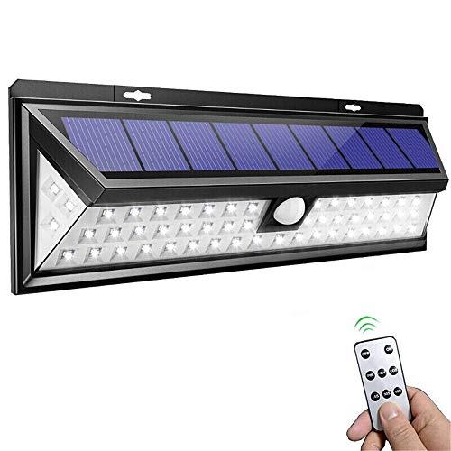 Guoyajf 54 LED-Solarleuchten Im Freien Mit Fernbedienung, Sicherheitssensor-Sicherheitsleuchten Mit 3 Beleuchtungsmodi, Solarbetriebene Leuchten Wandleuchten Wasserdicht Für Den Außenbereich