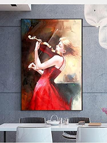 SHAZHU Cuadros Cartel de Arte de Pared de Perfume de Flores de Moda, Tacones Altos, Pintura en Lienzo para Mujer, Cuadros nórdicos, decoración del hogar para habitación de niñas50x70cm