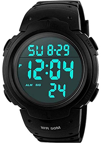 Para la práctica de deportes de los relojes digitales - al aire libre impermeable Deporte Reloj con alarma, Big Face...