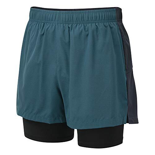Dare 2b Short Technique Recreate Léger et Extensible avec Second Short intérieur et Propriété de séchage Rapide Shorts Homme Majolica Blue/Outer Space FR: M (Taille Fabricant: M)