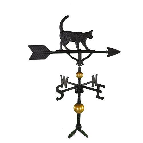 Montague Metal Products Wetterfahne mit schwarzer Katze, 81cm