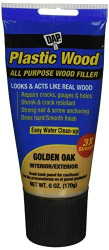DAP 582 Series 00582 6oz Gold Latex Plastic Wood, Golden Oak