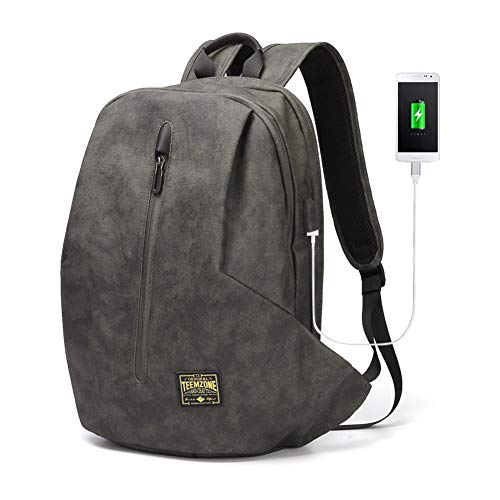 TEEMZONE Rucksack Herren Business mit USB 3.0 Ladeanschluss Wasserdicht Damen Laptoptasche 15.6