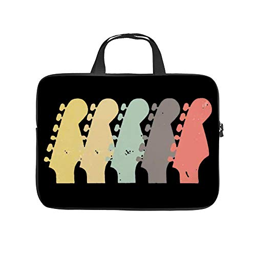 Vintage Electric Bass Guitar Necks Laptop Carrying Bag Neoprene Waterproof and Anti-Static Office Handbag 13 inch