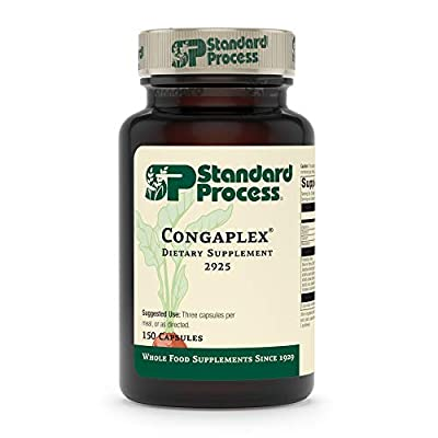Standard Process Congaplex - Whole Food RNA Supplement, Antioxidant, Immune Support with Thymus, Shiitake, Reishi Mushroom Powder, Organic Sweet Potato, Wheat Germ, Vitamin A and More - 150 Capsules