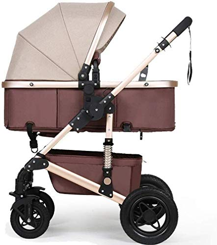 Best Buy! ZXCVB Baby Stroller for Newborn and Toddler Convertible Strollers Compact Single Baby Carr...