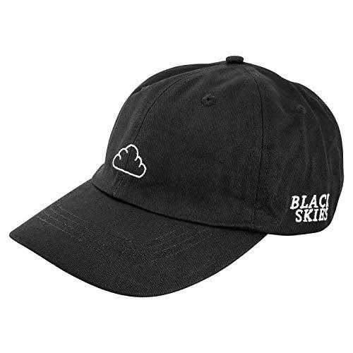 Blackskies Iuno Classic Baseball Cap   Unisex Strapback Mütze Kappe Herren Damen Basecap Curved Polo Hat - Schwarz
