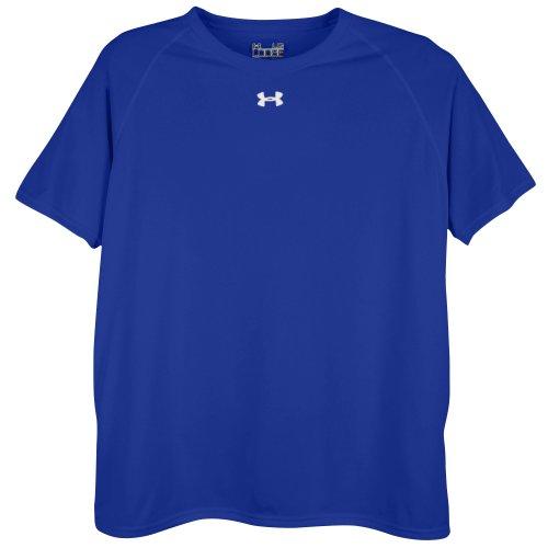 Under Armour Men's Locker Short Sleeve T-Shirt, Small, White/Black
