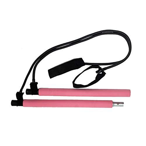 DDST - Barra de ejercicios para pilates, para yoga, para gimnasio, entrenamiento corporal y abdominal, 0, rosa