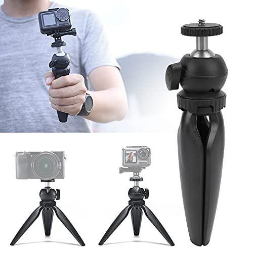 Gaeirt Trípode para cámara, trípode para teléfono de Escritorio Plástico para teléfonos móviles para cámaras Deportivas para cámaras sin Espejo(Black 1574)