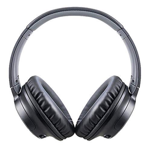 WH-IOE Gaming Headset Casque sans Fil Bluetooth Hi-FI Réduction du Bruit Casque de Jeu for PC Portable Noir Réduction du Bruit de Confort (Color : Black, Size : M)