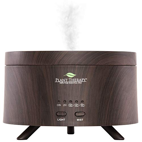 Plant Therapy AromaFuse Aromatherapy Essential Oil Diffuser 380 mL, Rose Gold - Premium, Quiet, Atomizing Humidifier, 5 Timer Settings, 3 Dimmable LED Night Light Settings, Auto Shut Off