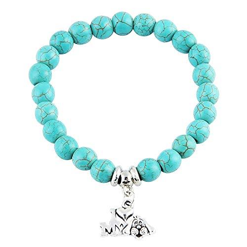 Vrouw en man - man armband - tibetaans - armband - boeddhist - etnisch - boeddha - imy hond - kerstmis - ik hou van mijn hond - blauw - origineel cadeau idee i love my dog