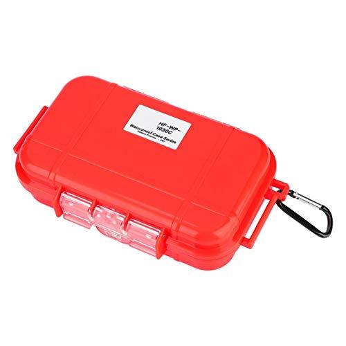 Wosune Estuche de Almacenamiento Impermeable, contenedor de Caja Impermeable Excelente Mano de Obra Ligero y Compacto para viajeros para Jugadores para el hogar para(Red)