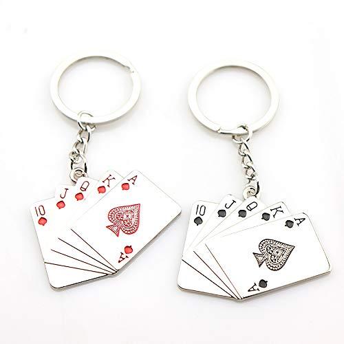 Benrise metalen speelkaart sleutelhanger creatieve reclame promotie kleine gift sleutelhanger accessoires