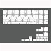 DIYキーキャプス ホワイトプロファイルキーキャップ染料サブパープルフォントカラーPBTキーキャップMechanical Keyboard GH60 XD60 XD84 TADA68 87 96 104(カラー:CW ANSI 104) アクセサリー (色 : CW 96)