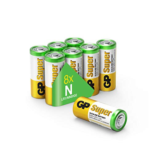 GP Batteries Super Alkaline Batterien LR1 (Typ N / 910A / Lady) 1,5 Volt (1,5V), Pack mit 8 Stück