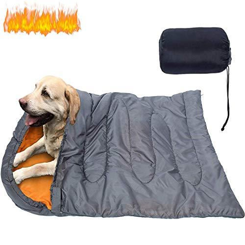 KUDES Dog Sleeping Bag Waterproof Warm Packable Dog Bed with Storage Bag for Indoor Outdoor Travel...