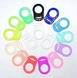 Anillo de silicona (adaptador) para chupetes – Libre de BPA + sustancias nocivas – Soporte para cadenas de chupetes de bebé (azul claro)