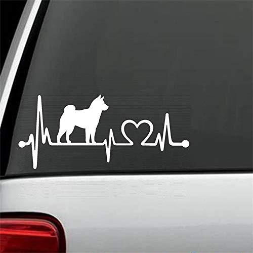 Auto Aufkleber Auto Aufkleber Shiba Inu Heartbeat Lifeline Hund Aufkleber Aufkleber Fenster Laptop Kunst 15cm