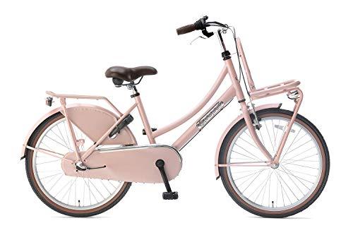 Popal Daily Dutch Basic+ Kinderfahrräder Mädchen 22 Zoll 36 cm Mädchen 3G Rücktrittbremse Lachsfarben