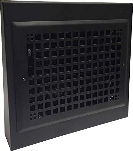 Decorative Steel Black Gravity Baseboard Registers 10