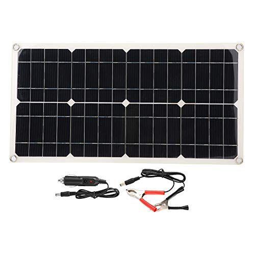Solar Panel,5V 40W Dual USB Flexible Waterproof Portable Single Crystal Solar Power Panel Charger High Conversion Rate Car Battery Charger Controller for Laptops,RVs,etc