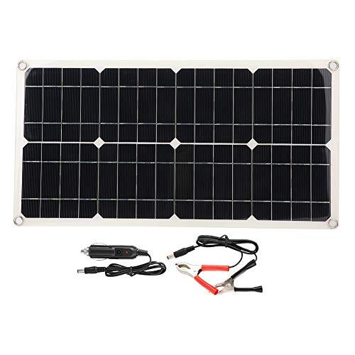 Exliy Cargador de batería de Coche, Utiliza la energía del Sol, Alta eficiencia de conversión, fácil de Usar y Transportar