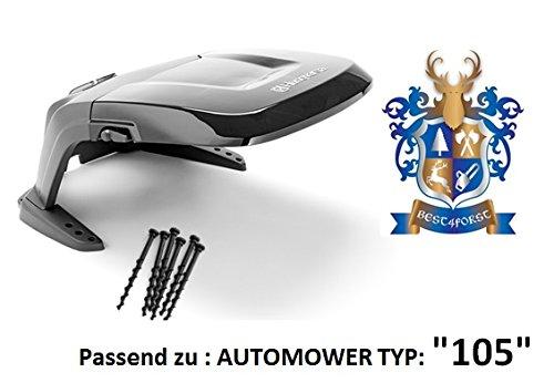 Original . Automower Abdeckung / passend zu Automower 105 / incl. Bodenschrauben