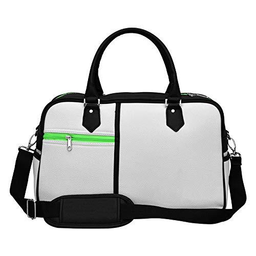 Canness-Accessories Golf Kleidung Tasche verschleißfeste wasserdichte männer Reisetasche Lychee pu leichte Fitness Sporttasche mit schuhfach für Frauen männer (Farbe : C1, Größe : 46 * 22 * 28cm)