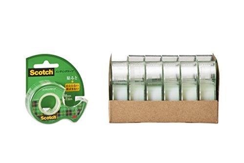 3M スコッチ テープ メンディングテープ ディスペンサー付 18mm×7.6m 小巻 12巻 CM-18