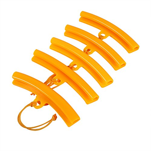 Keenso 5 Pcs Protection de Jante, Protège Bord de Roue Protecteurs de Pneu pour Montage Démonte Pneus Moto Auto Vélo Outil Orange Jaune(Orange)