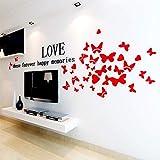 WFLSTICKER Acrylique 3D Sticker Mural Stéréo, Sticker Mural, Salon Salon TV Fond Mur, Décoration De La Maison Autocollants 180X60Cm