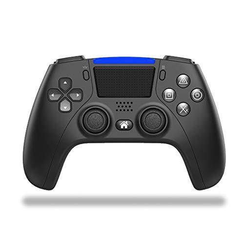 Mando inalámbrico Bluetooth para PS4, Game Joystick Remote Gamepad para PS4, con panel táctil de seis ejes, doble vibración y audio, capacidad de 1000mAh para Android PS4/PS4 Slim/PS4 Pro,Negro