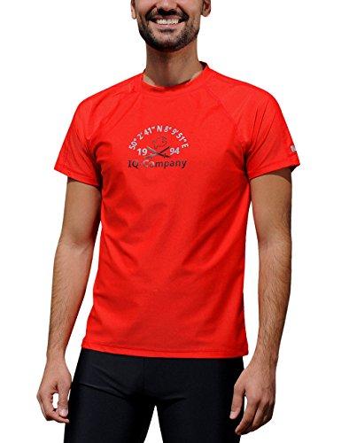 T-shirt loose iQ UV 300, vêtement anti-UV - Rouge (Rouge) - Taille : X-Large