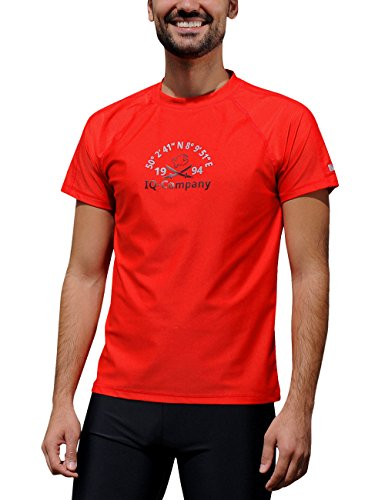 iQ-Company Herren T-Shirt UV-Schutz 300 Loose Fit Watersport 94, rot (red), XXL (56)